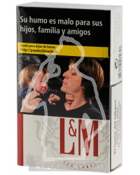 LM Red 200 CIGARETTES CARTOON BOX